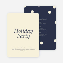 Confetti Holiday Party Invitations - Blue