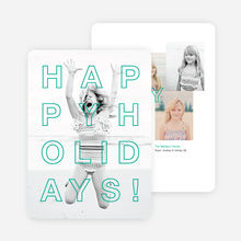Happy Holidays Cards Outline - Green