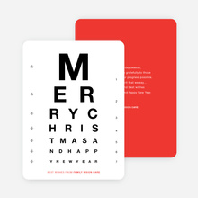Happy Holidays Corporate Eye Chart Cards - Red