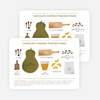 Holiday Recipe Cards: Chocolate Covered Poached Pears - Green