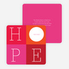 Love: A Four Letter Word? Non-Photo Holiday Cards - Red