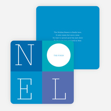 Love: A Four Letter Word? Non-Photo Holiday Cards - Blue