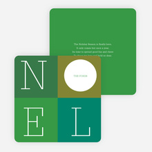 Love: A Four Letter Word? Non-Photo Holiday Cards - Green