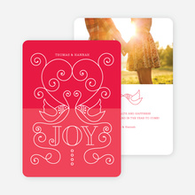 Lovebirds Holiday Cards - Pink