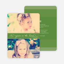 Rejoice in the Lord Christmas Cards - Green