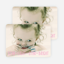 Star Light, Star Bright, Christmas Cards - Pink
