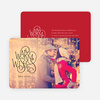 Warm Wishes for the Holidays Cards - Red