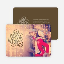 Warm Wishes for the Holidays Cards - Brown