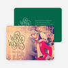 Warm Wishes for the Holidays Cards - Green