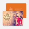 Warm Wishes for the Holidays Cards - Orange