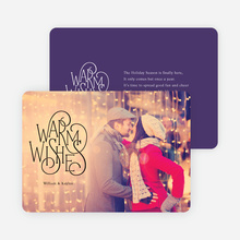 Warm Wishes for the Holidays Cards - Purple