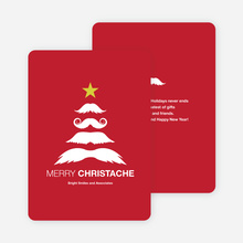 Christache and Movember Holiday Cards - Red