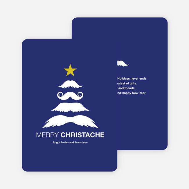 Christache and Movember Holiday Cards - Blue
