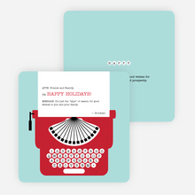 Holiday Typewriter Note Cards - Red
