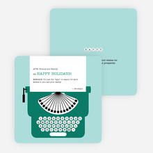 Holiday Typewriter Note Cards - Green