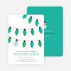 Snowman Christmas Tree Lights - Green