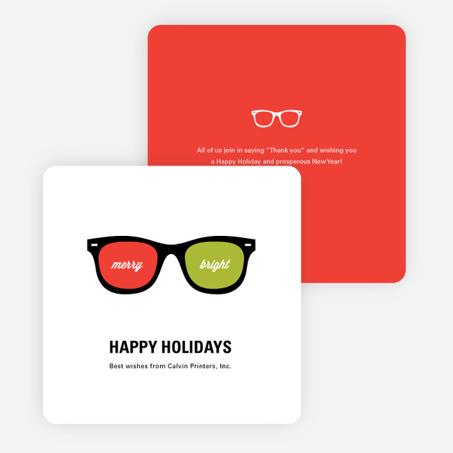 Visions of the Future Corporate Holiday Cards - Red