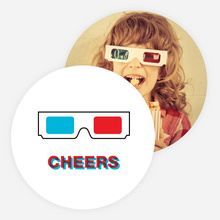 3D Glasses Holiday Cards - Multi