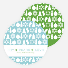 Holiday Icons for Joy, Peace & Love - Green