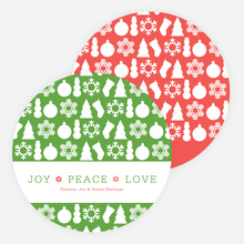 Holiday Icons for Joy, Peace & Love - Red