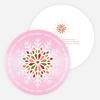 Snowflake Greetings - Pink
