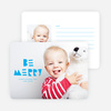 Be Merry Silhouette Holiday Cards - Blue