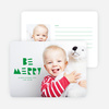 Be Merry Silhouette Holiday Cards - Green