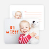 Be Merry Silhouette Holiday Cards - Orange