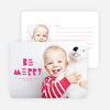 Be Merry Silhouette Holiday Cards - Red