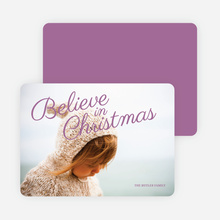 Believe in Christmas Cards - Purple
