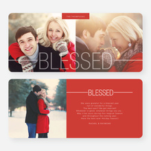 Blessed Christmas Cards - Red