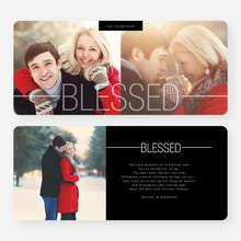 Blessed Christmas Cards - Black