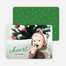 Cheers Snow Winter Photo Cards - Green