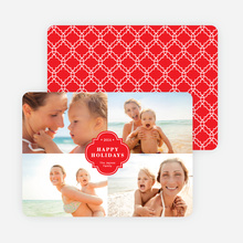 Family Crest Holiday Photo Cards - Red