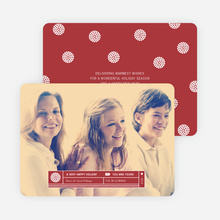 Family Label Holiday Photo Cards - Red