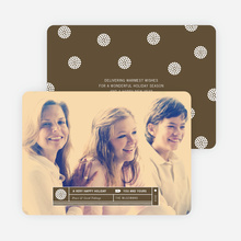 Family Label Holiday Photo Cards - Brown