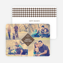 Happy Together Holiday Photo Cards - Brown