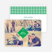 Happy Together Holiday Photo Cards - Green