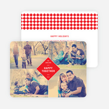Happy Together Holiday Photo Cards - Red