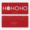 Ho Ho Ho Ornaments - Red