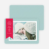 Holiday Photo Cards: Joy, Peace & Love Stripes - Blue