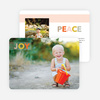 Joy & Peace Holiday Photo Cards - Orange