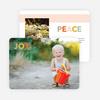 Joy & Peace Holiday Photo Cards - Orange