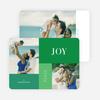 Joy, Peace & Love Blocks: Holiday Photo Cards - Green