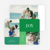 Joy, Peace & Love Blocks: Holiday Photo Cards - Green