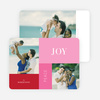Joy, Peace & Love Blocks: Holiday Photo Cards - Red
