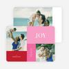 Joy, Peace & Love Blocks: Holiday Photo Cards - Red