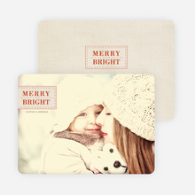 Merry & Bright Christmas Photo Cards - Red