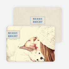 Merry & Bright Christmas Photo Cards - Blue