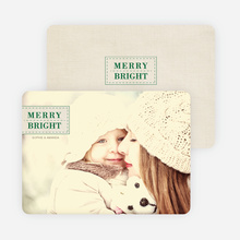Merry & Bright Christmas Photo Cards - Green